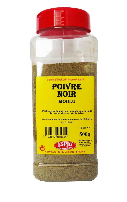 POIVRE NOIR MOULU BOITE 440 GR ESPIG PGML : epicerie-pro