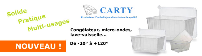 Nouveau - Boites alimentaires plastiques Carty multi-usages : conglateur, micro-ondes, lave-vaisselle...