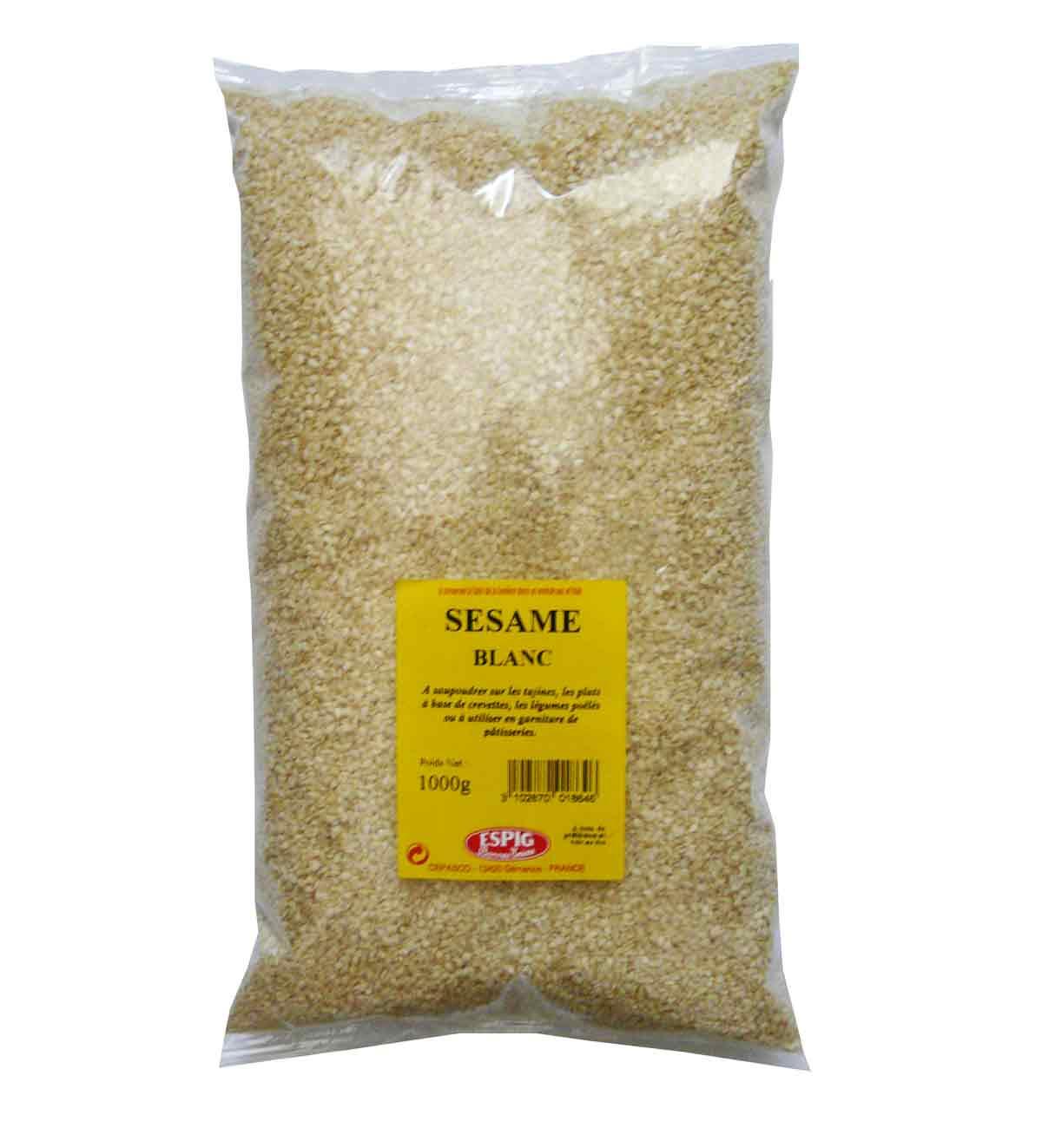 Sesame blanc poche 1kg espig epicerie picerie - Prix du fer au kilo ...