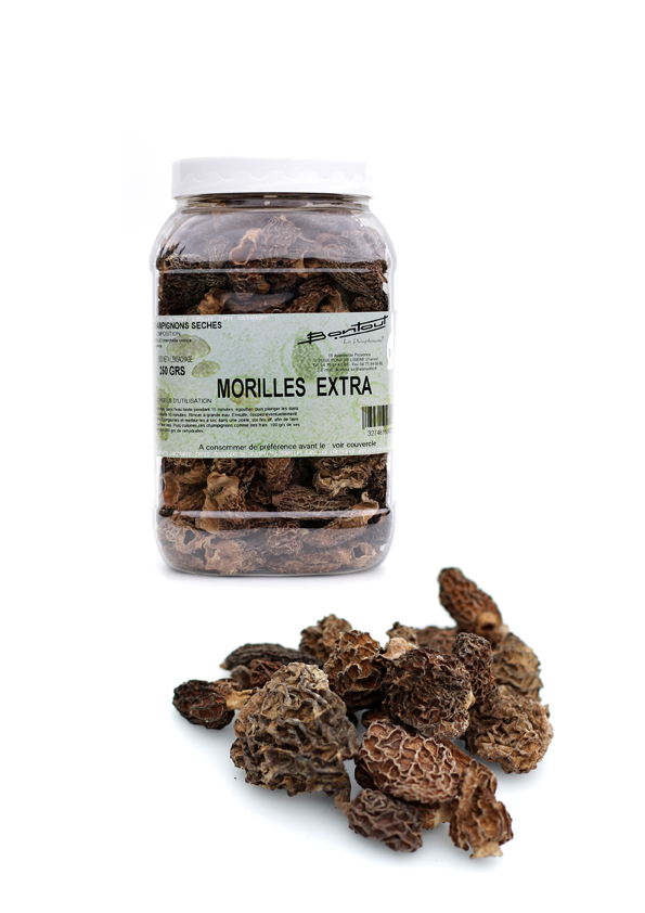 morilles sechees extra 250gr bontout epicerie picerie en ligne au meilleur prix pour. Black Bedroom Furniture Sets. Home Design Ideas