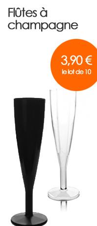 Flûtes à champagne - 3,90 euros le lot de 10